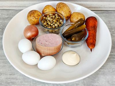 продукты на салат оливье