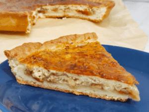 Луковый пирог на дрожжевом тесте