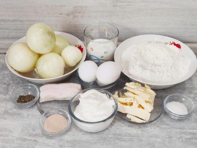 продукты на луковый пирог